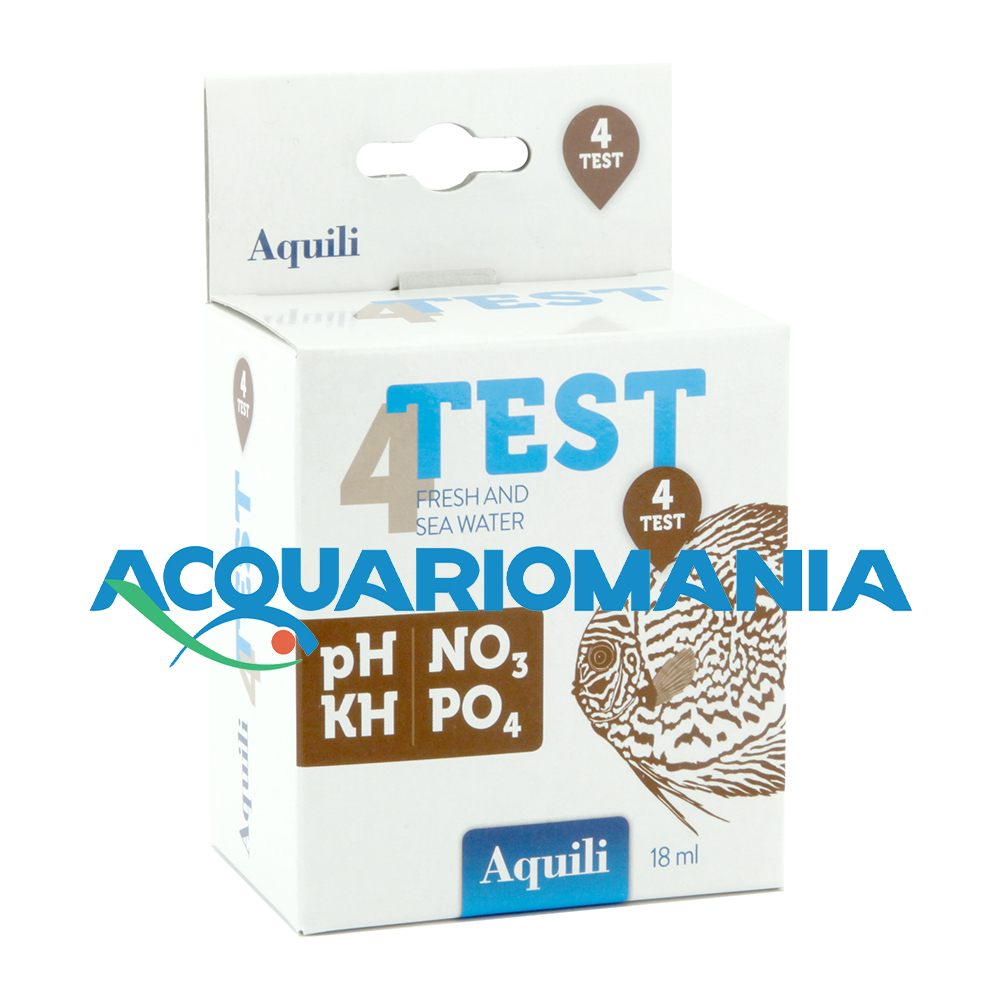 Aquili Test 4 in 1 a gocce PH KH NO3 PO4