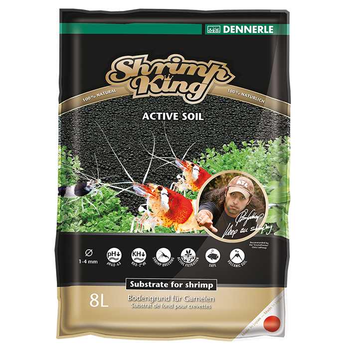 Dennerle Shrimp King Active Soil Fondo Fertile specifico per gamberetti 8lt