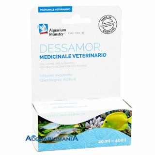 Aquarium Munster Dessamor Medicinale Veterinario 20ml per 400lt