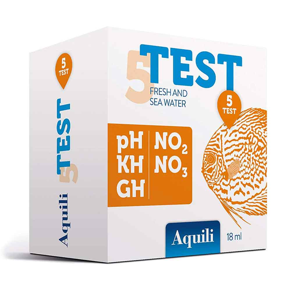 Aquili Test 5 in 1 a gocce NO2 NO3 PH GH KH